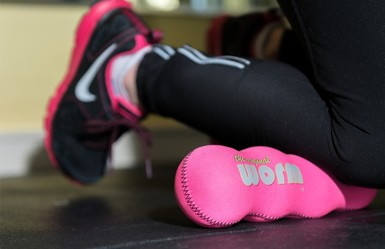 The Original Worm is the portable, full body massage roller that combines the benefits of therapy balls with a foam roller.  Great to massage neck pain, back pain, foot pain, plantar fasciitis, IT band, glutes, calves.  Use for travel.